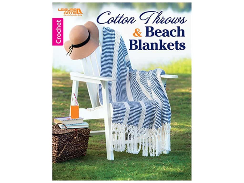Leisure Arts Cotton Blankets & Throws Book