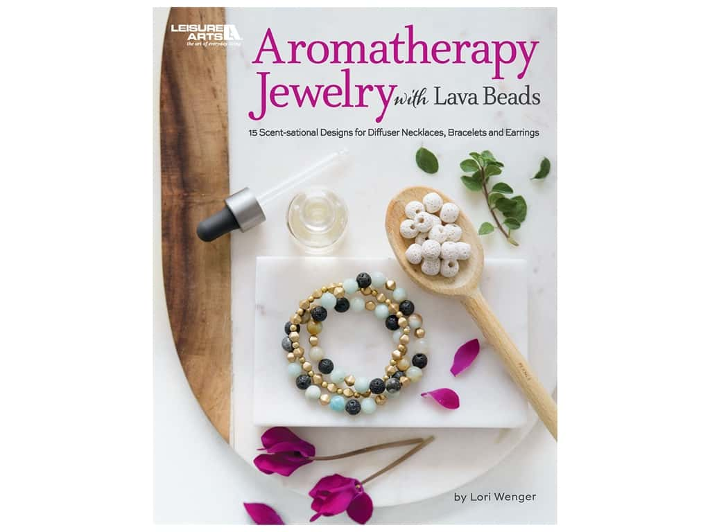 Leisure Arts Aromatherapy Jewelry With Lava Beads Book