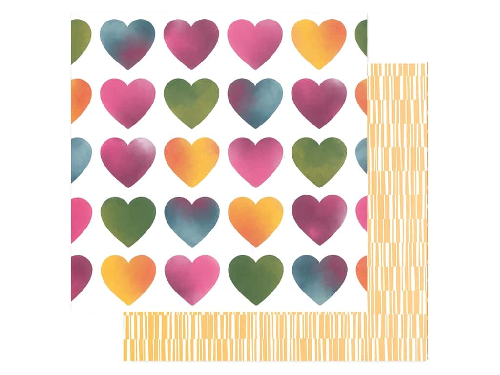 American Crafts Amy Tangerine 12 x 12 in. Paper Slice Of Life Love Always (25 pieces)