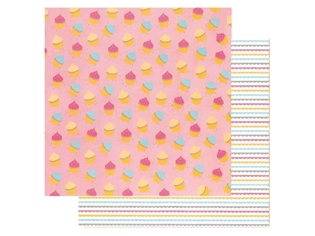 American Crafts Amy Tangerine 12 x 12 in. Paper Slice Of Life My Cupcake (25 pieces)