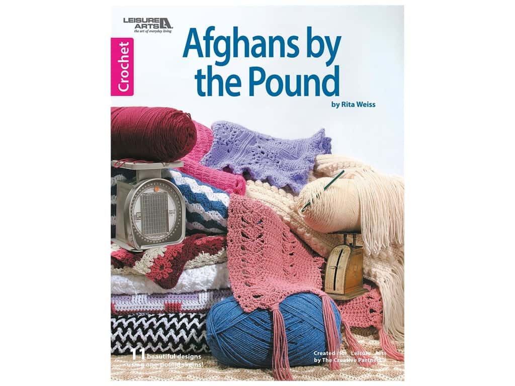 Leisure Arts Afghans By The Pound Crochet Book