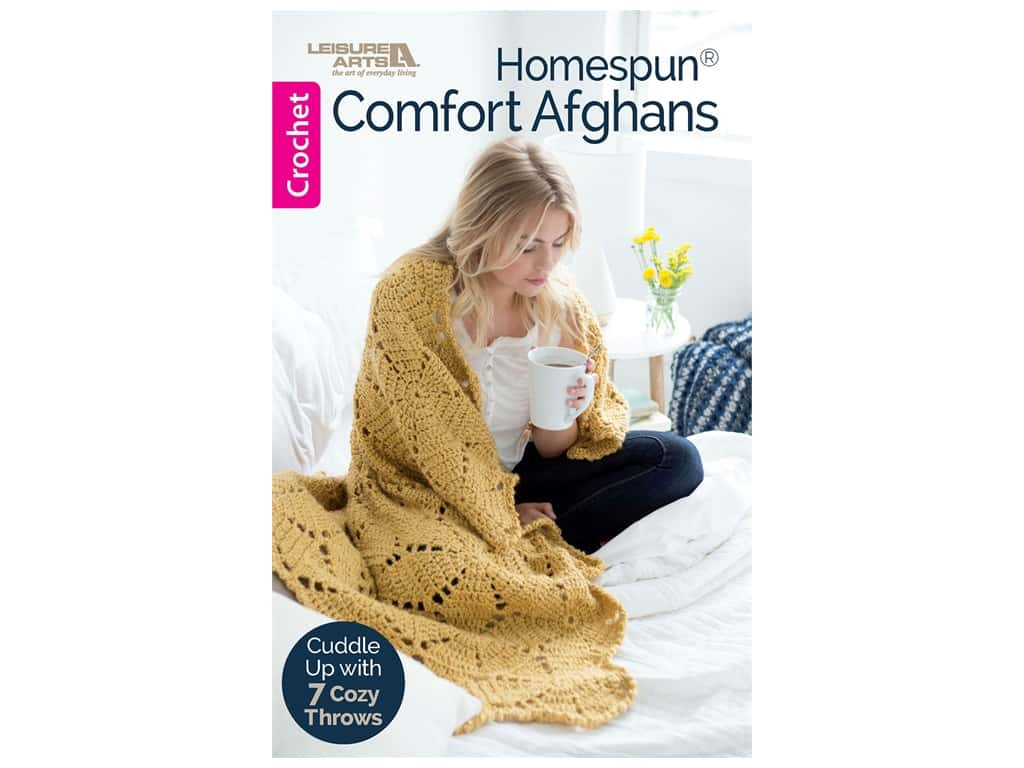 Leisure Arts Homespun Comfort Afghans Book