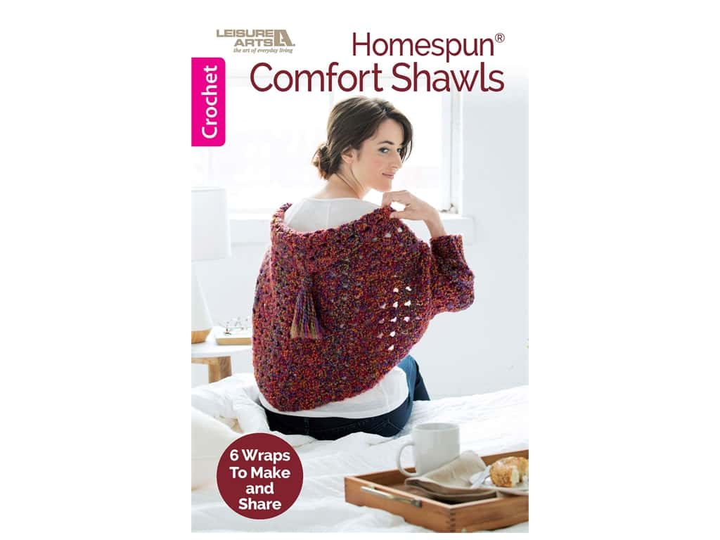 Leisure Arts Homespun Comfort Shawls Crochet Book