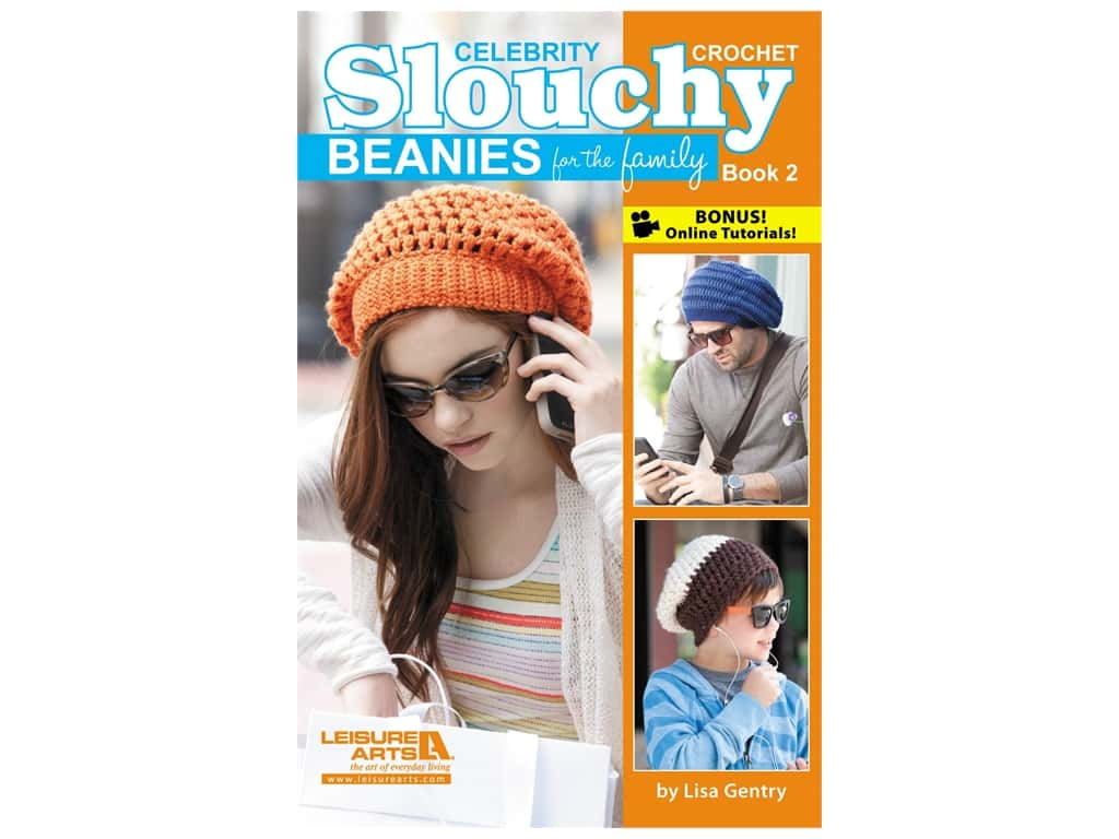 Leisure Arts Crochet Celebrity Slouchy Beanies #2 Book