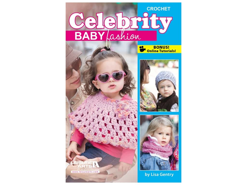 Leisure Arts Crochet Celebrity Baby Fashion Book
