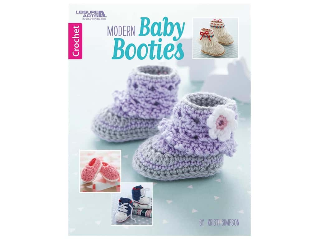Leisure Arts Modern Baby Booties Book