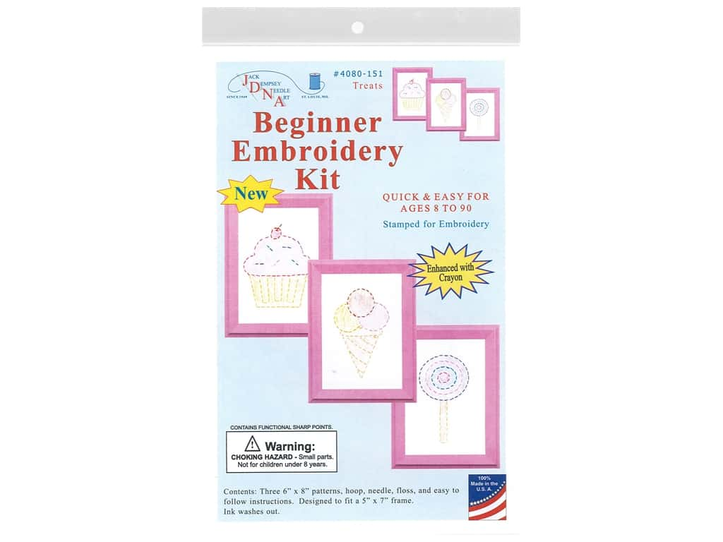 Jack Dempsey Beginner Embroidery Kit Treats