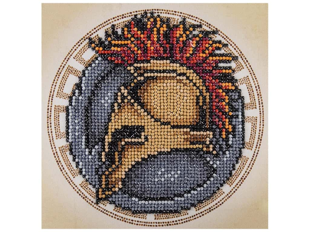 Diamond Art Kit 8 in. x 8 in. Sparkle Spartan
