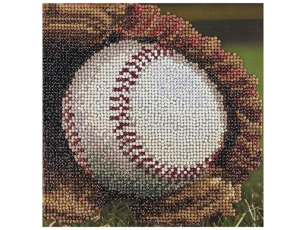 Diamond Art Kit 8 in. x 8 in. Sparkle Baseball In Glove