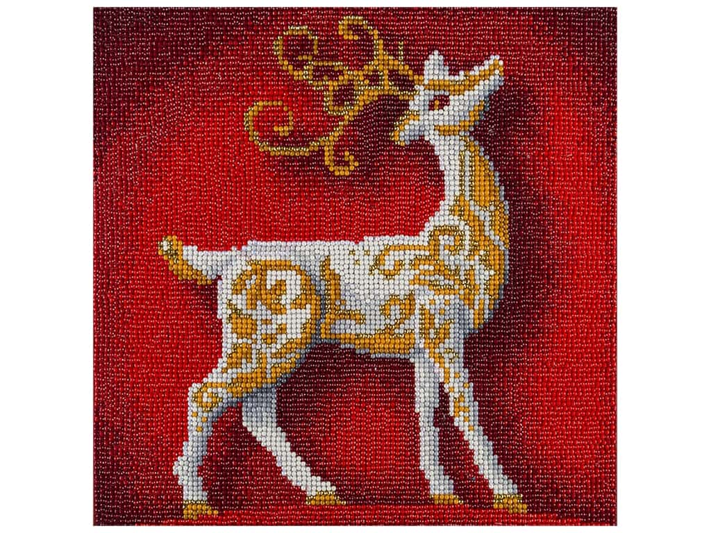 Diamond Art Kit 12 in. x 12 in. Full Drill Holiday Reindeer