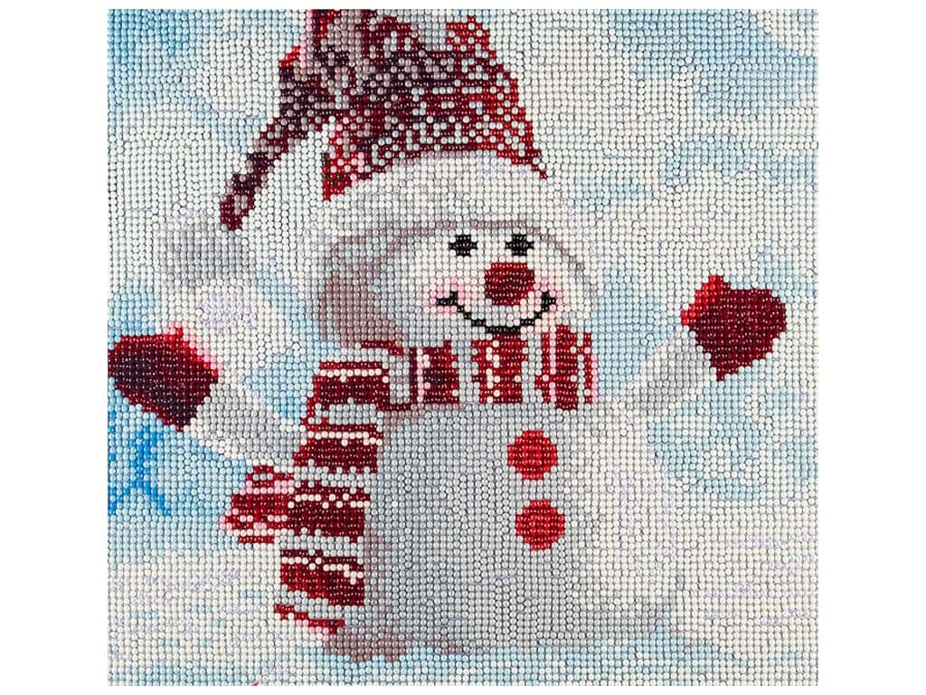 Diamond Art Kit 12 in. x 12 in. Full Drill Holiday Snowman