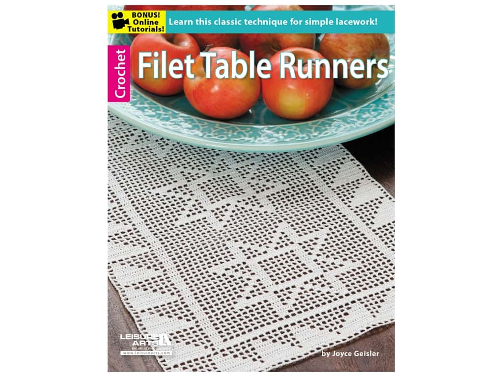 Leisure Arts Filet Table Runners Book