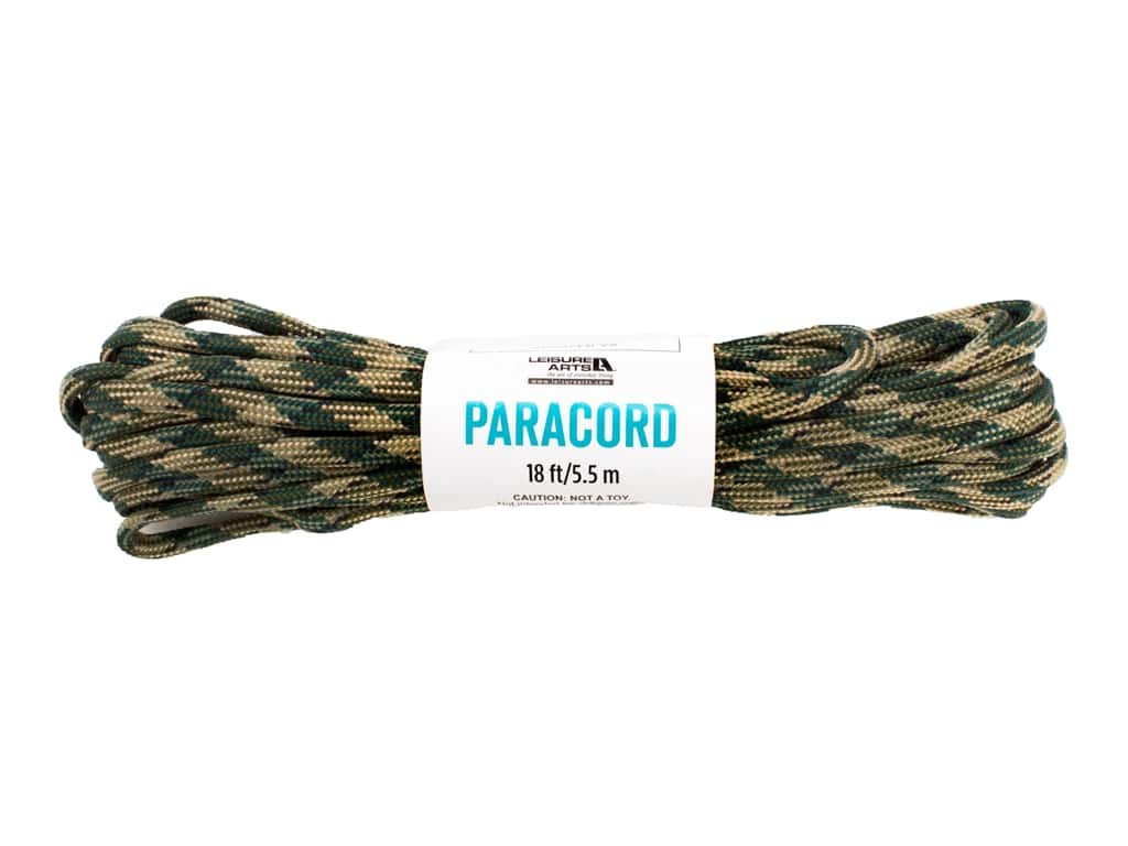 Leisure Arts Paracord Variegated Camo 18 ft
