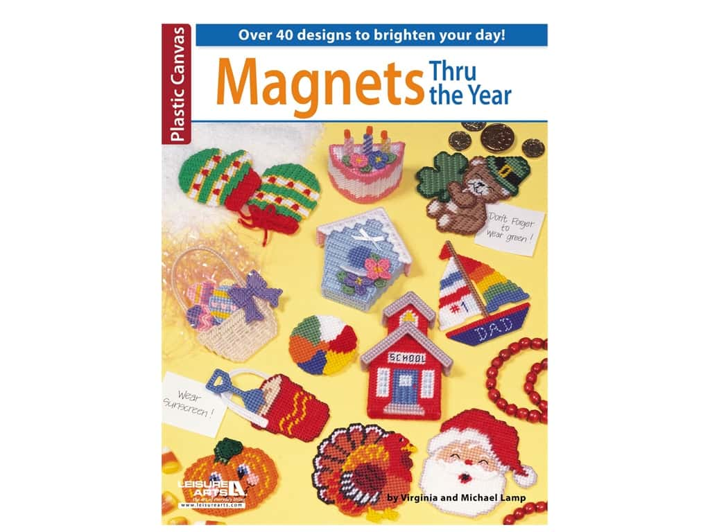 Leisure Arts Magnets Thru The Year Plastic Canvas Book