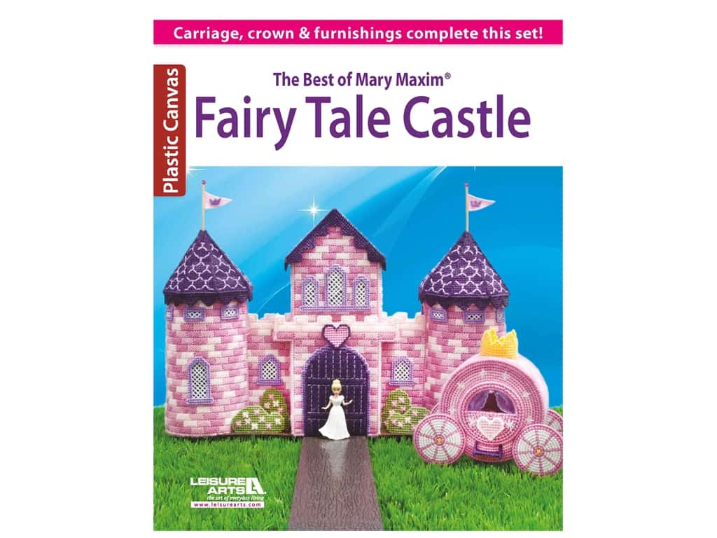 Leisure Arts The Best Of Mary Maxim Fairy Tale Castle Plastic Canvas Book