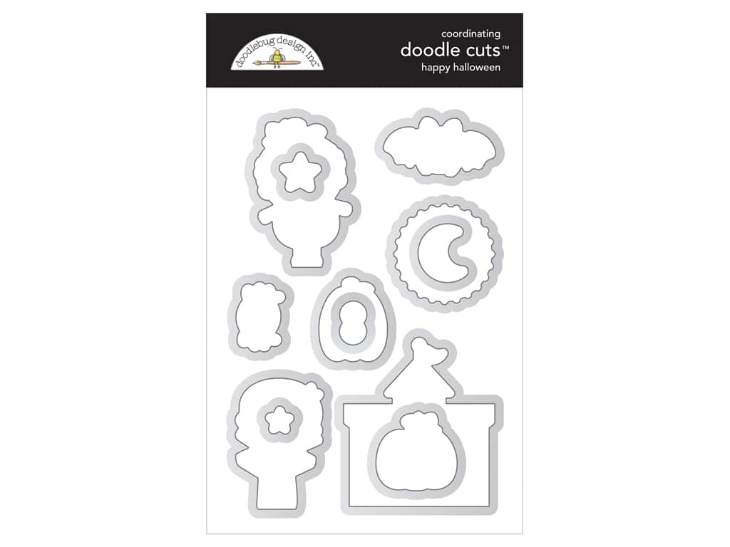 Doodlebug Collection Candy Carnival Doodle Cuts Die Happy Halloween