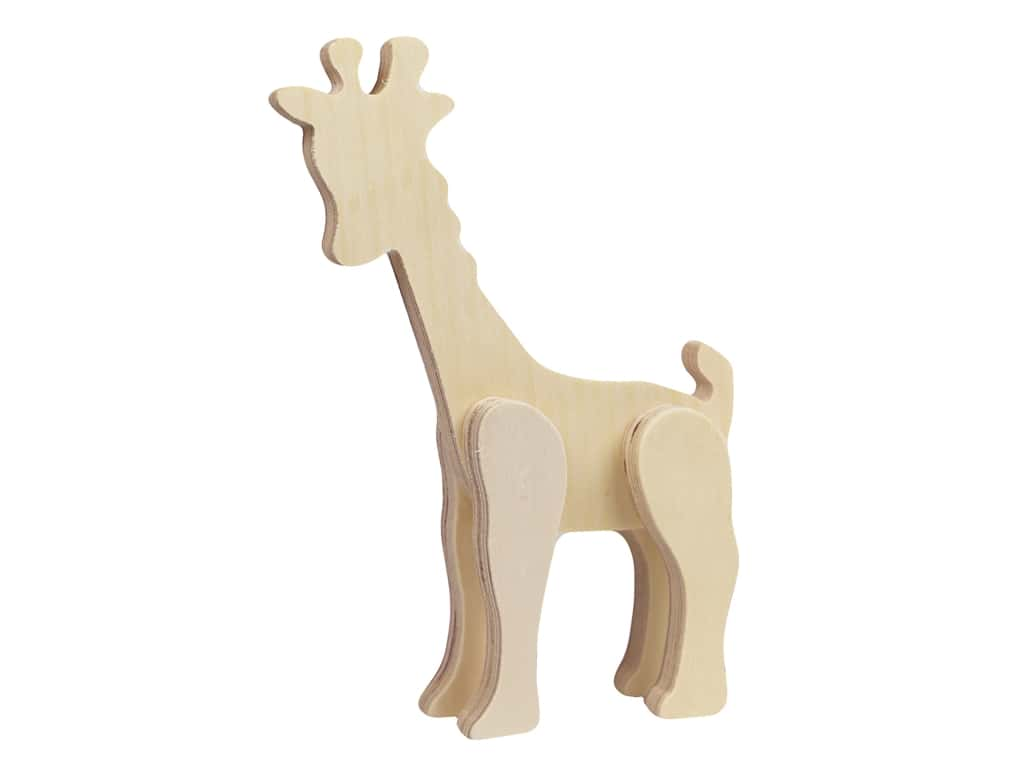 Multicraft Wood Standing Animal Giraffe