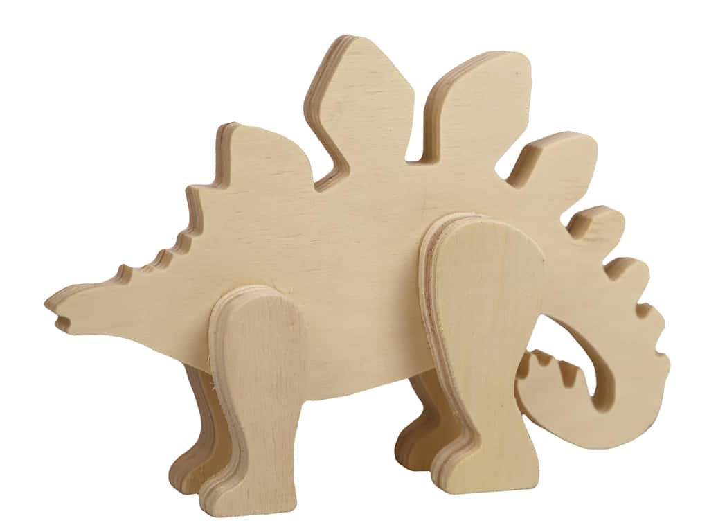 Multicraft Wood Standing Animal Stegosaurus
