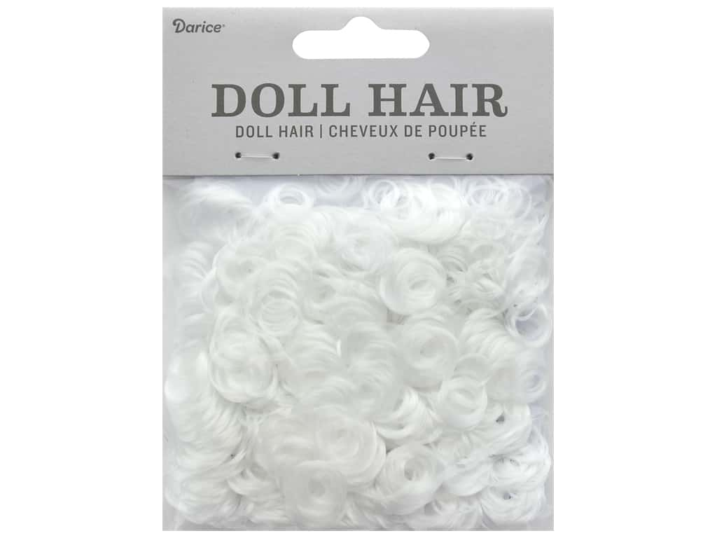 Darice Doll Hair Curly White 13 mm