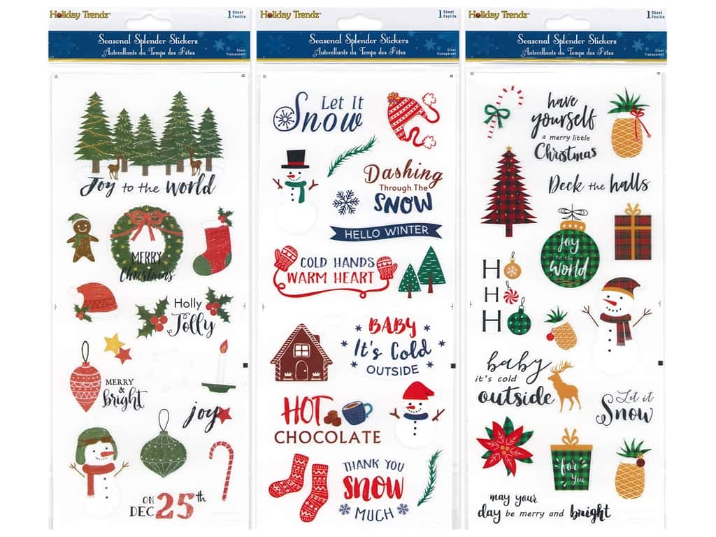 Multicraft Sticker Holiday Let It Snow Assorted (3 sets)