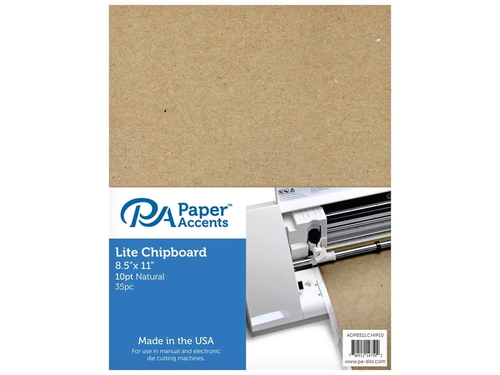 """Paper Accents Chipboard 8.5""""x 11"""" Thin 10pt 35pc Natural"""