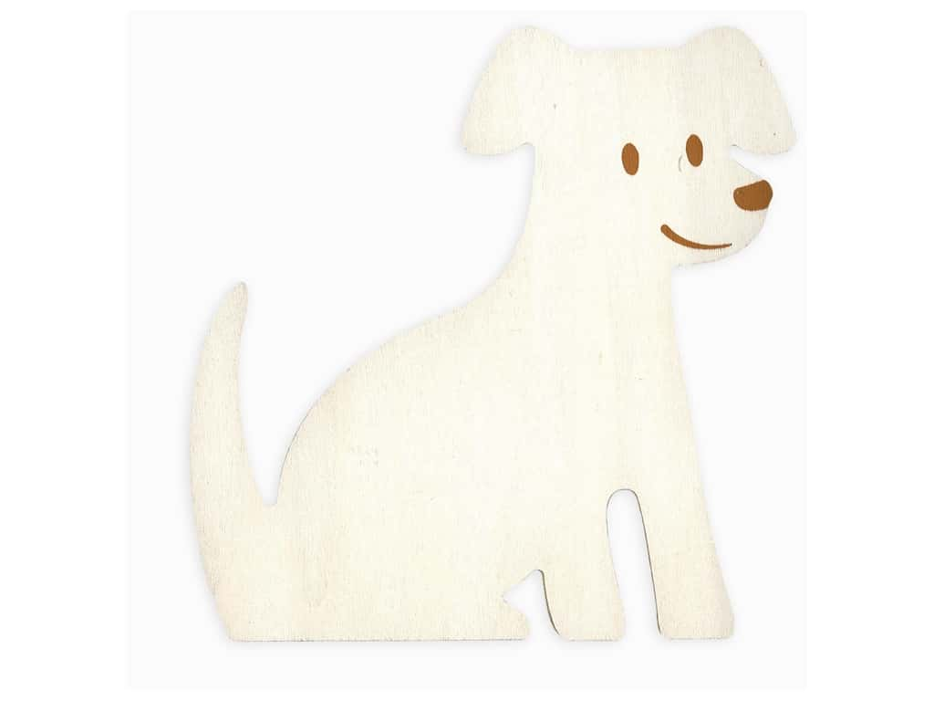 Darice Wood Standing Dog 6.75 in. x 6.75 in.
