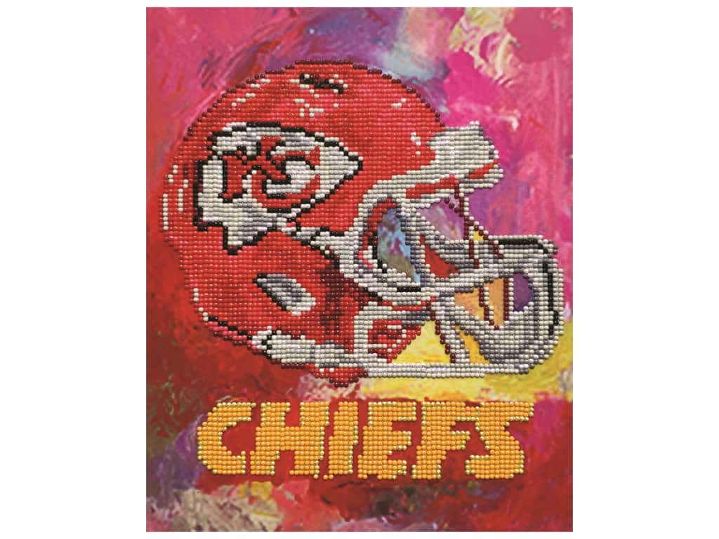 Diamond Art Kit 10 in. x 12 in. Intermediate NFL Team Kansas City Chiefs