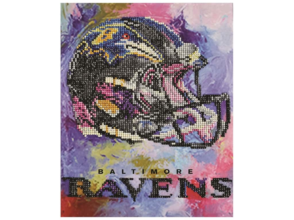 Diamond Art Kit 10 in. x 12 in. Intermediate NFL Team Baltimore Ravens