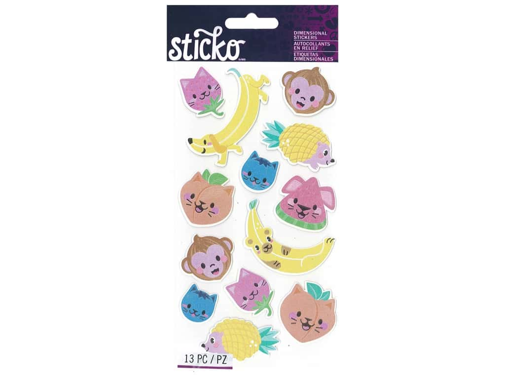 EK Sticko Stickers Classic Fruit Animals