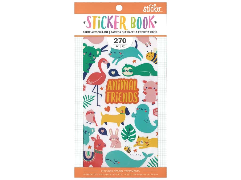 American Crafts Sticker Book Small Animal