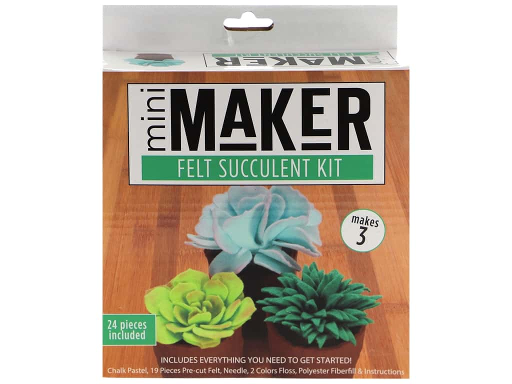 Leisure Arts Mini Maker Felt Succulent Kit - Green