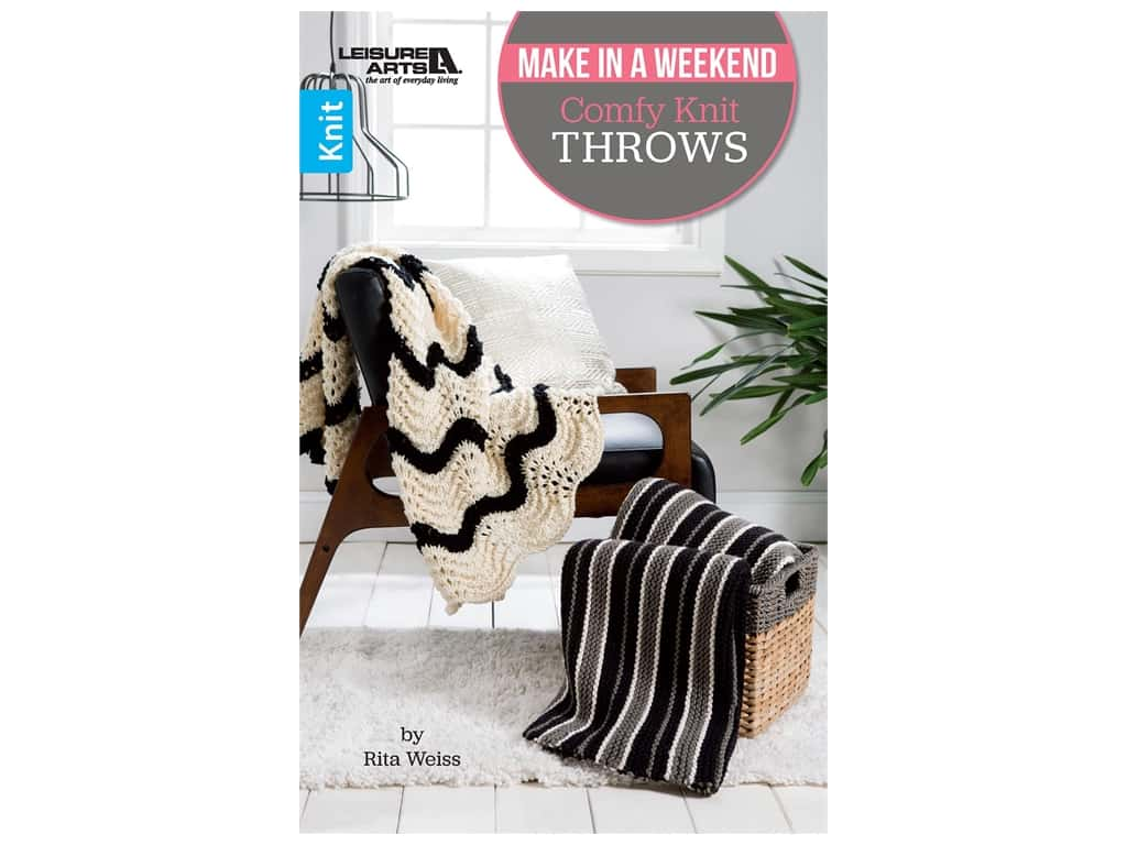 Make In A Weekend Comfy Knit Throws Book