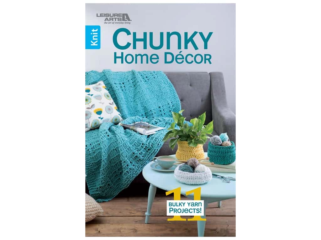 Leisure Arts Chunky Home Decor To Knit Book