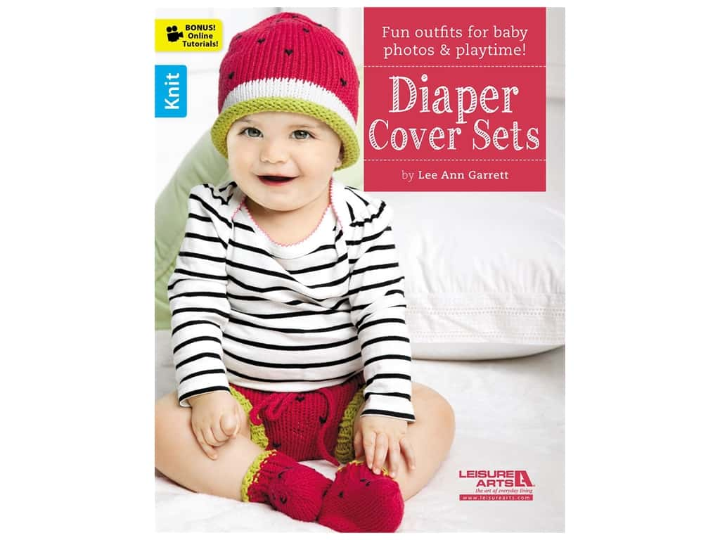 Leisure Arts Diaper Cover Sets Knit Book