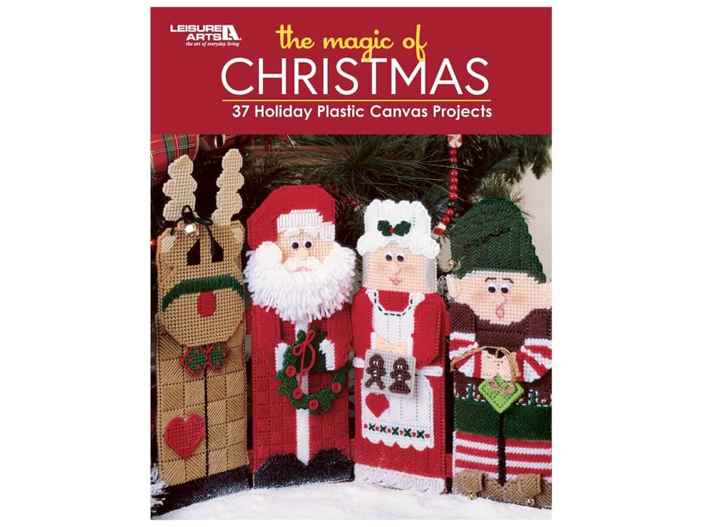 Leisure Arts The Magic Of Christmas Plastic Canvas Book