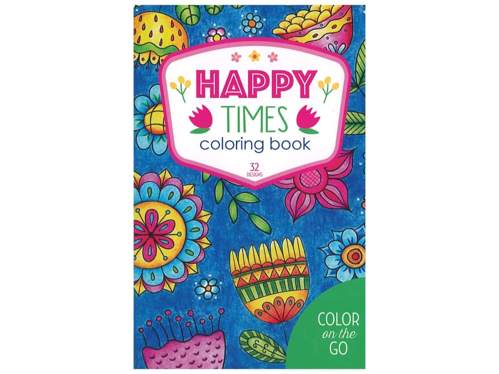 Color on the Go: Happy Times Coloring Book
