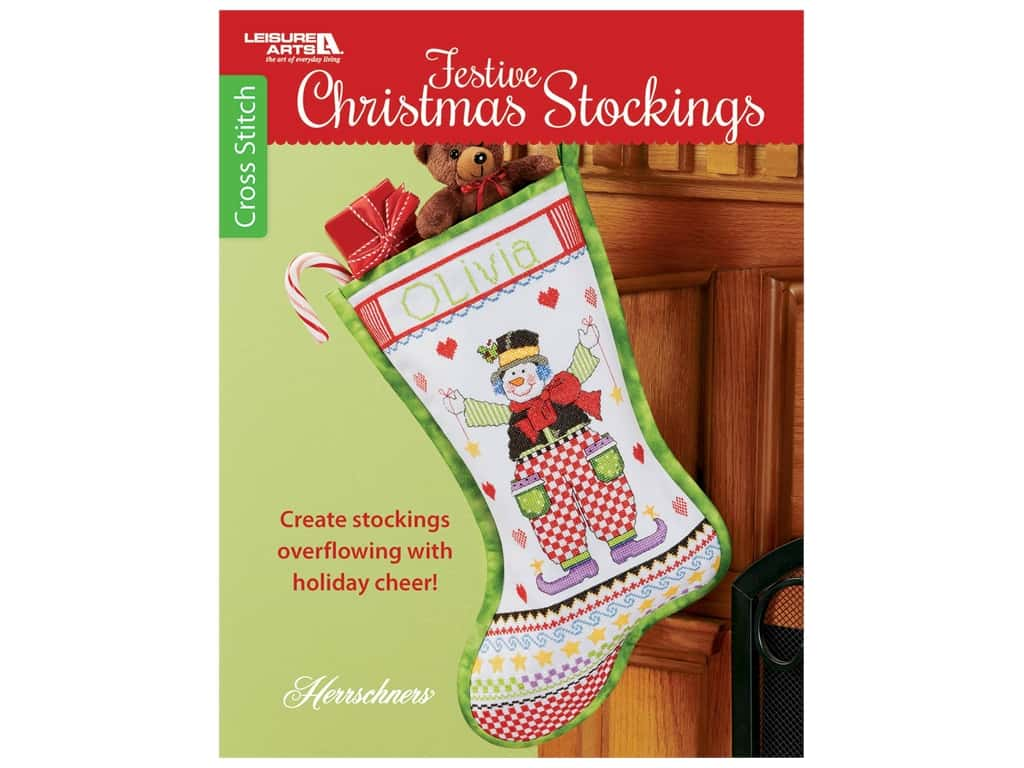 Leisure Arts Festive Christmas Stockings Book