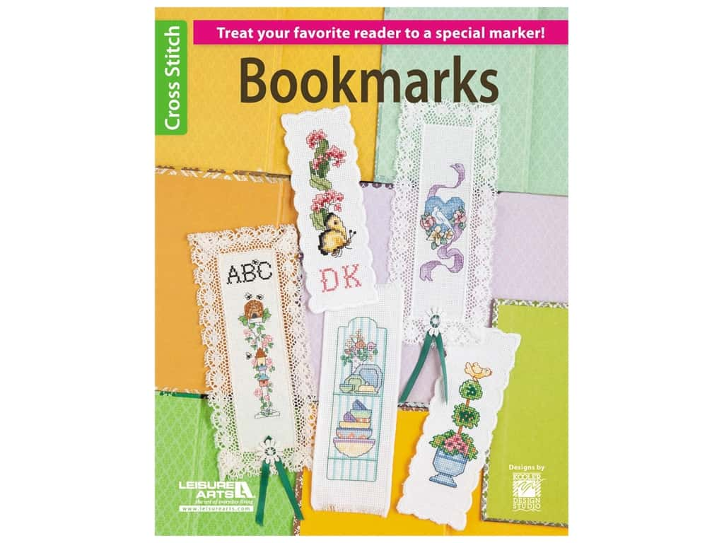Leisure Arts Bookmarks To Cross Stitch Book