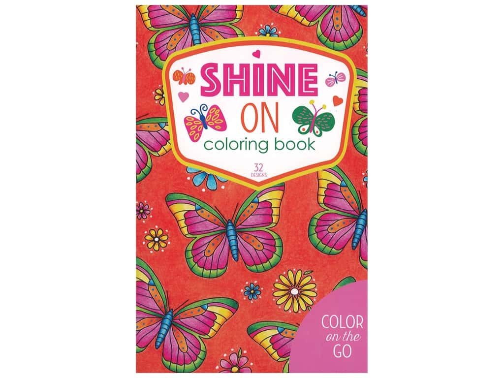 Leisure Arts Color On The Go Shine On Coloring Book