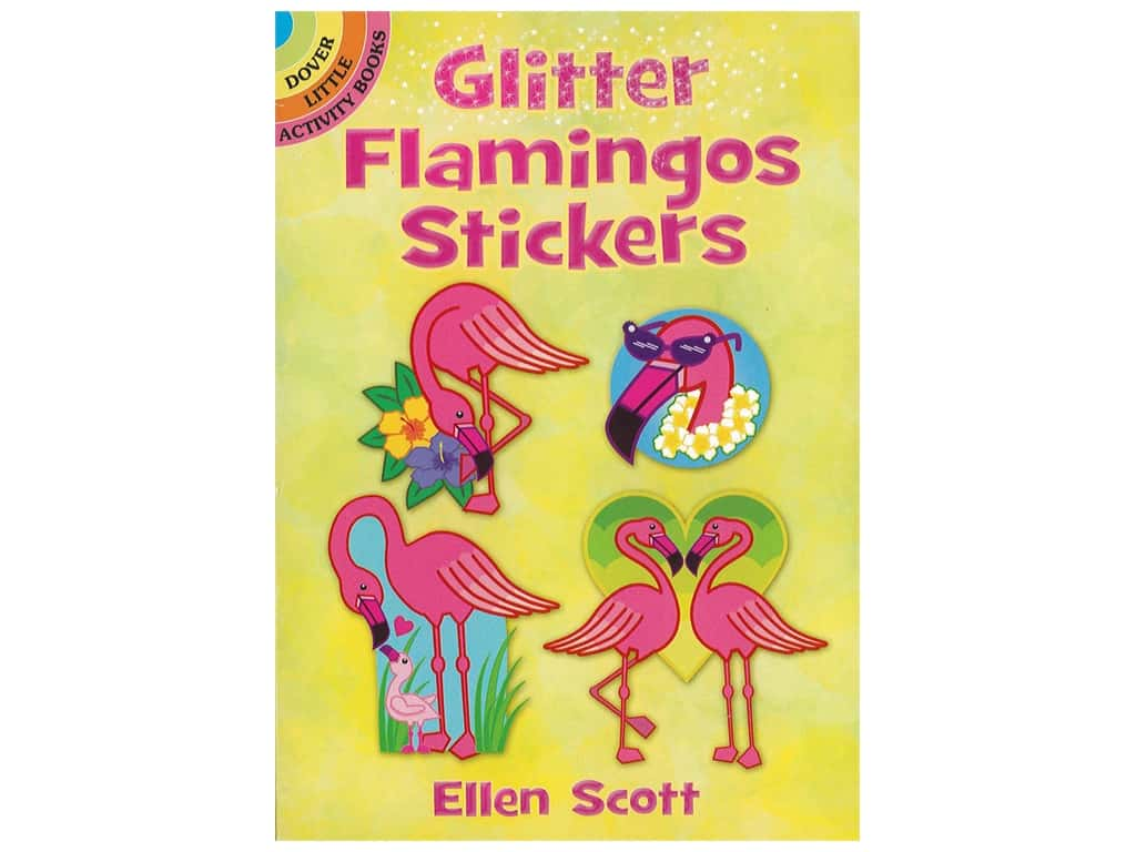Dover Little Activity Books Glitter Flamingos Sticker Book