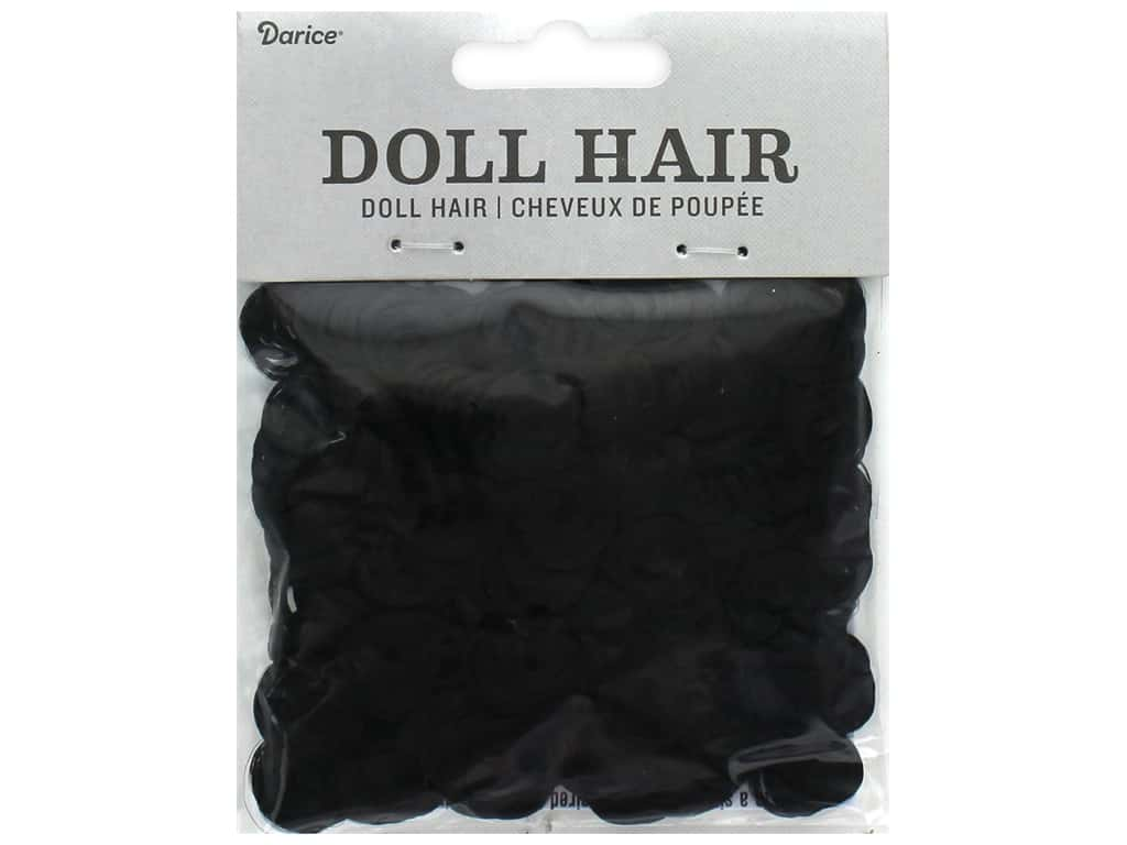 Darice Doll Hair Curly Black 13 mm