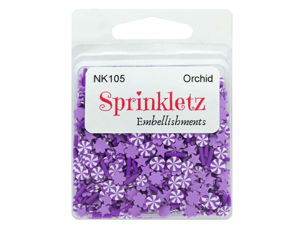 Buttons Galore Sprinkletz Embellishments Orchid