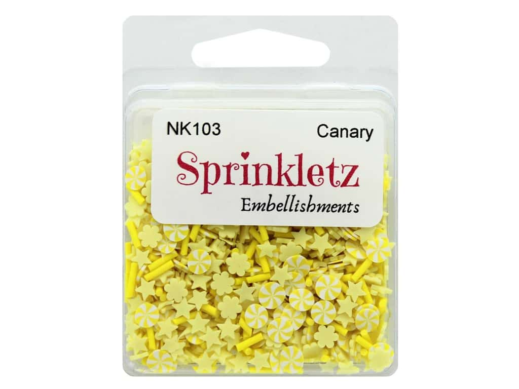 Buttons Galore Sprinkletz Embellishments Canary