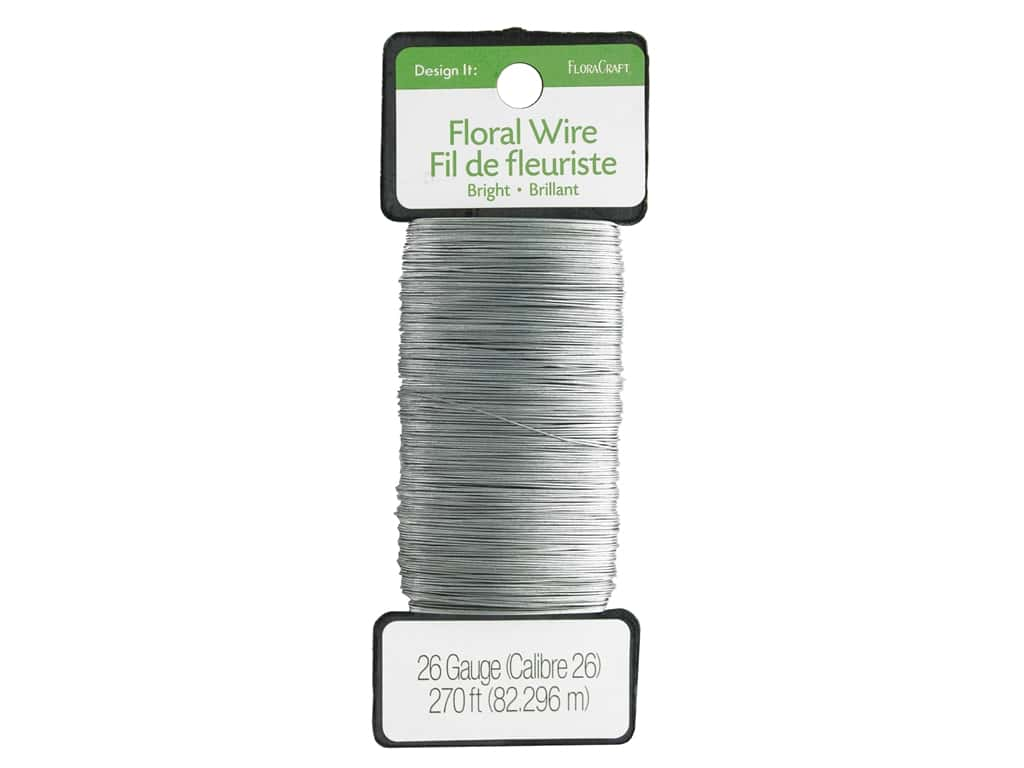 FloraCraft Floral Wire Paddle 26 Gauge Bright 270 ft