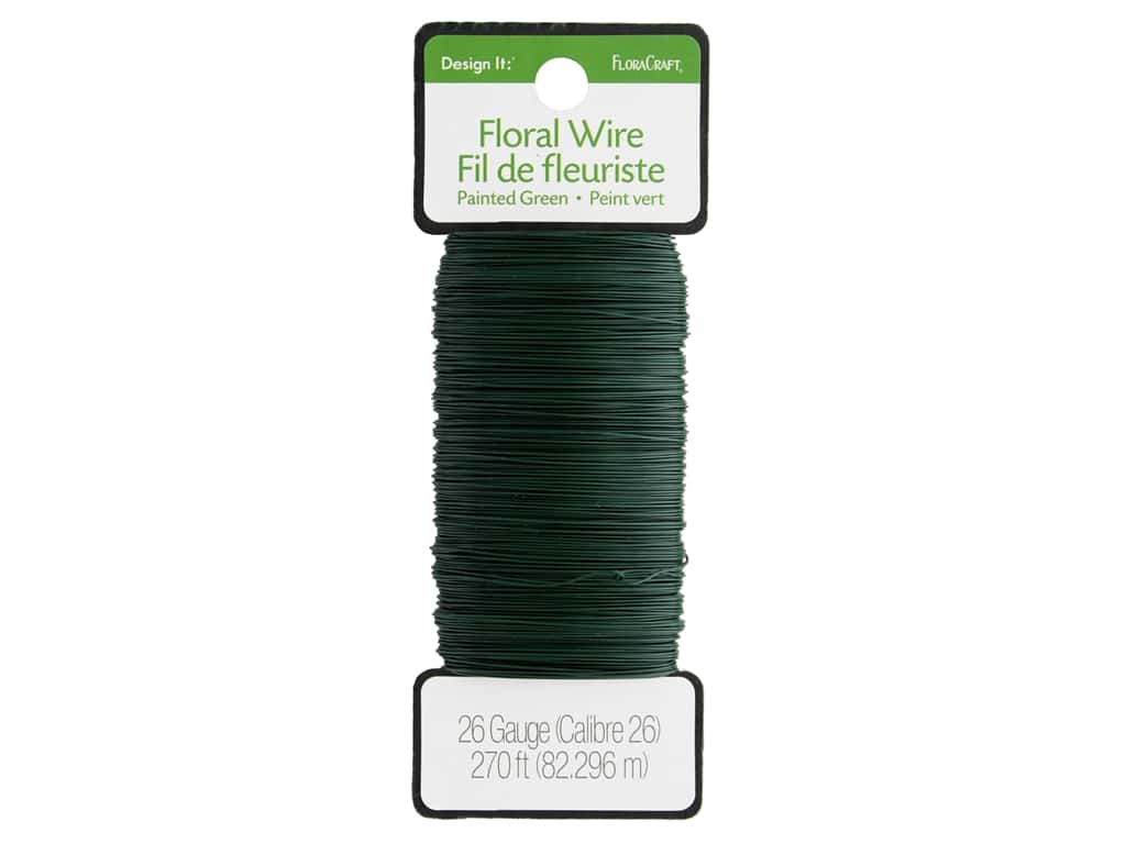 FloraCraft Floral Wire Paddle 26 ga Green 270 ft.