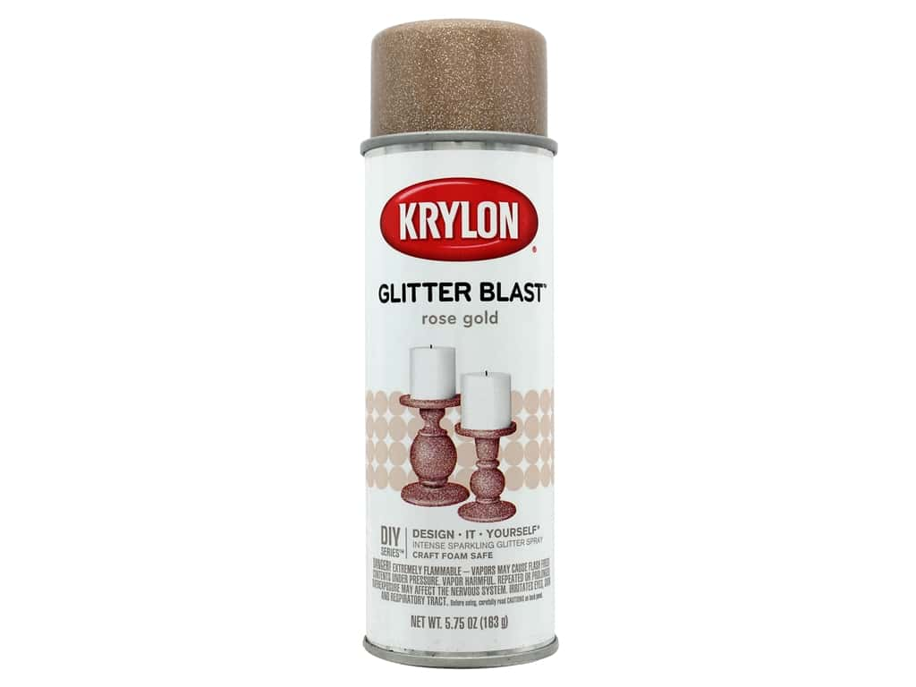 Krylon Glitter Blast Paint Rose Gold  5.75 oz