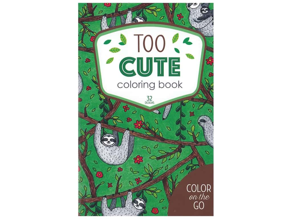 Leisure Arts Color/Go Too Cute Coloring Bk