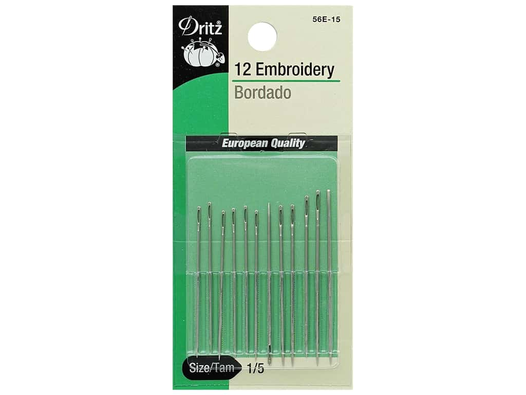 Dritz Embroidery Needles Size 1/5 12 pc.