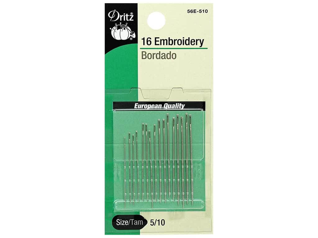 Dritz Embroidery Needles Size 5/10 16 pc.