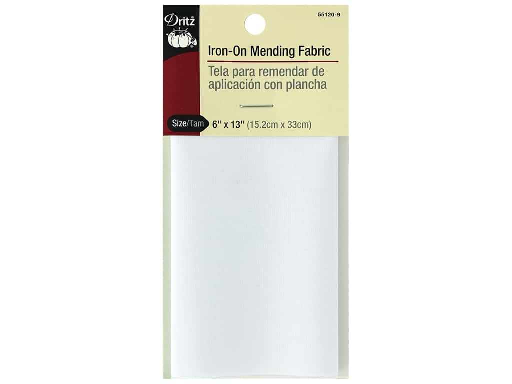 Dritz Iron-On Mending Fabric - 6 x 13 in. White